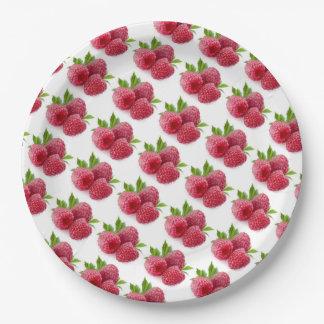 Raspberries Paper Plate