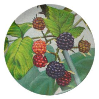 Raspberries Plate