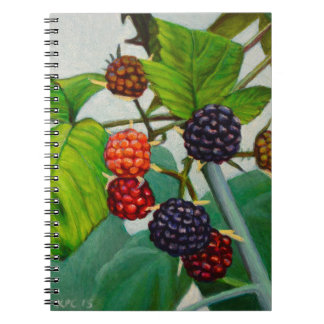 Raspberries Spiral Notebook