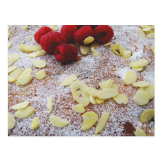 Raspberry and Almond Cake Postcard