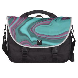 raspberry and aqua agate laptop bag