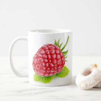 Raspberry and mint coffee mug