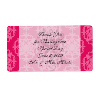 Raspberry and pink damask