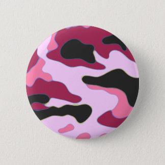 Raspberry Camo 2 Inch Round Button