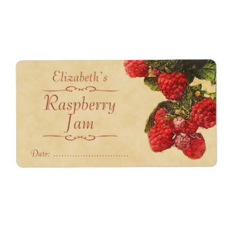 Raspberry Canning label Shipping Label