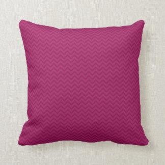 Raspberry Chevron Throw Pillow