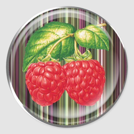 Raspberry Classic Round Sticker