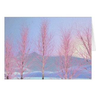 Raspberry Creme Birch Card