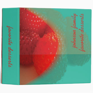 Raspberry, favorite dessert recipes book vinyl binders