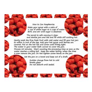 Raspberry Fruit Recipe Postcard