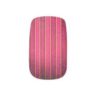 Raspberry Gold Stripe Modern Hot Minx ® Nail Art