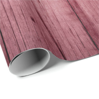 Raspberry Grain Rustic Pastel Rose Peony Pink Wood Wrapping Paper