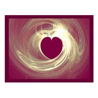 Raspberry Heart Postcard