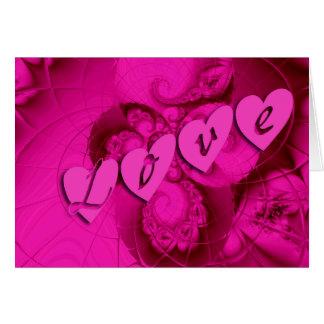 Raspberry Hearts Love Card