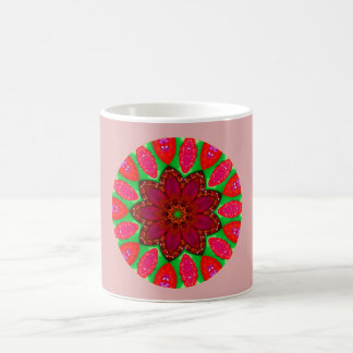 Raspberry Jam Fractal Coffee Mug