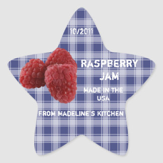 Raspberry Jam Jar Label (Customize)