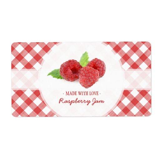Raspberry Jam Label Shipping Label