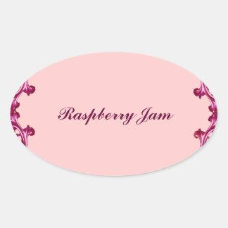 Raspberry jam preserves label and sticker
