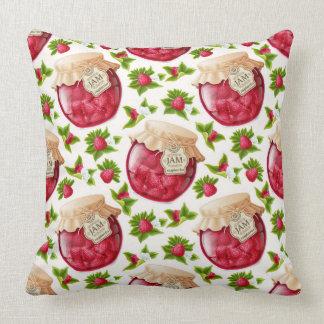 Raspberry Jam Throw Pillow