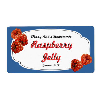Raspberry Jelly Canning Labels