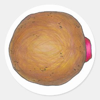 Raspberry Jelly Donut Doughnut Stickers