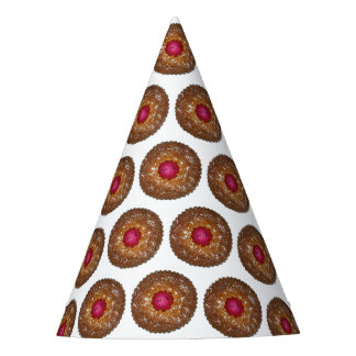 Raspberry Linzer Torte Christmas Cookie Baking Party Hat