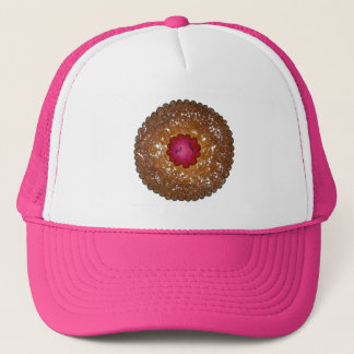 Raspberry Linzer Torte Christmas Cookie Baking Trucker Hat
