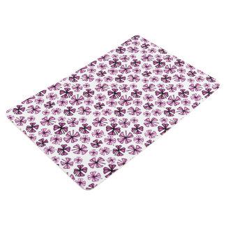 Raspberry Lucky Shamrock Clover Floor Mat