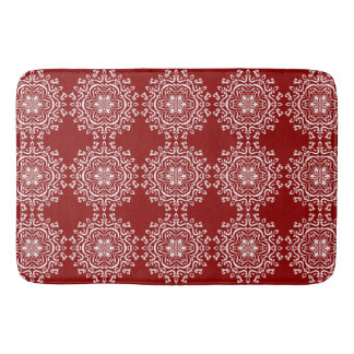 Raspberry Mandala Bath Mat