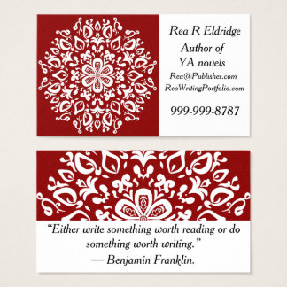 Raspberry Mandala Business Card