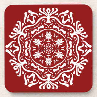 Raspberry Mandala Coaster