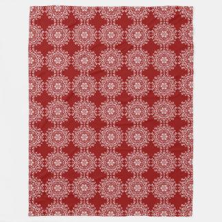 Raspberry Mandala Fleece Blanket