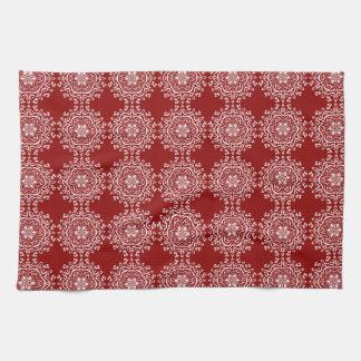 Raspberry Mandala Kitchen Towel