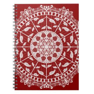 Raspberry Mandala Notebook