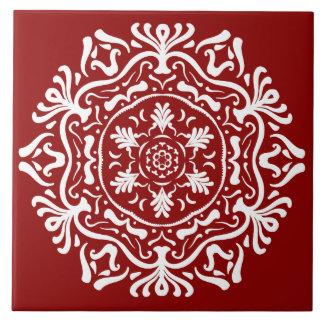 Raspberry Mandala Tile