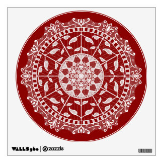 Raspberry Mandala Wall Sticker