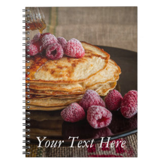 Raspberry Pancakes with Maple Syrup Spiral Notebook