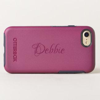 Raspberry | Pesonalized Name OtterBox Symmetry iPhone 8/7 Case