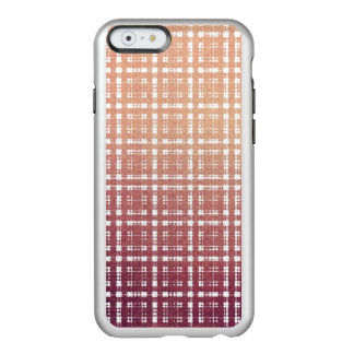 Raspberry Pink Blush Modern Plaid Netted Ombra Incipio Feather® Shine iPhone 6 Case