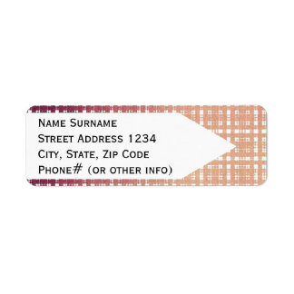 Raspberry Pink Blush Modern Plaid Netted Ombra Return Address Label