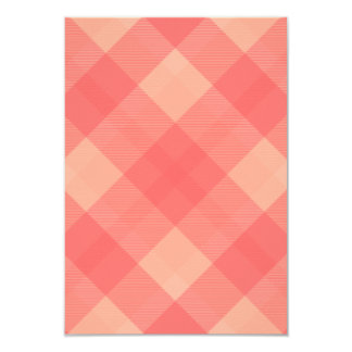 "Raspberry Plaid Coordinating Wedding RSVP 3.5"" X 5"" Invitation Card"