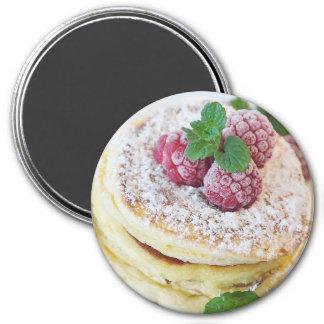 Raspberry Powdered Sugar Pancake Magnet