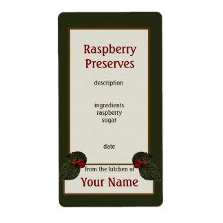 Raspberry Preserves Canning Label 2