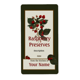 Raspberry Preserves Canning Label Shipping Label