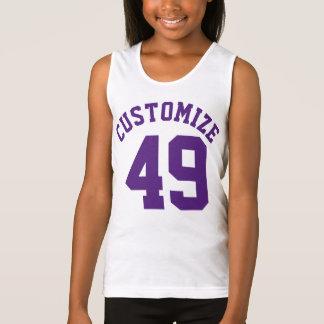 Raspberry & Purple Kids   Sports Jersey Design Tank Top