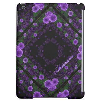 Raspberry Roses & Paisley Bandana Name Template iPad Air Cases