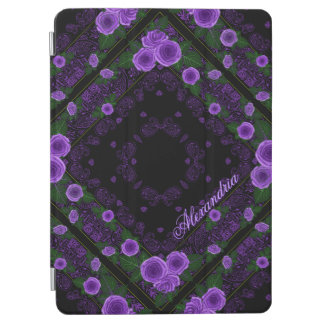 Raspberry Roses & Paisley Bandana Name Template iPad Air Cover