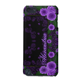 Raspberry Roses & Paisley Bandana Name Template iPod Touch 5G Cases