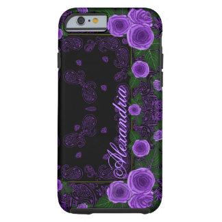 Raspberry Roses & Paisley Bandana Name Template Tough iPhone 6 Case