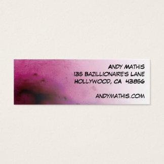 Raspberry Sherbert Skinny Biz Card